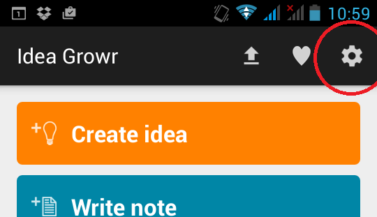 Idea Growr settings